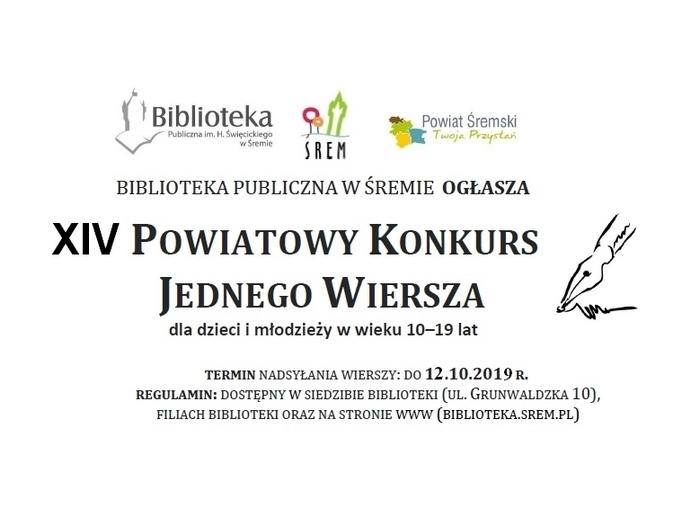 Konkursy Biblioteka Publiczna Im H święcickiego W śremie