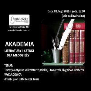 8.02.2016 - AKADEMIA LITERATURY ISZTUKI - ZDJĘCIA
