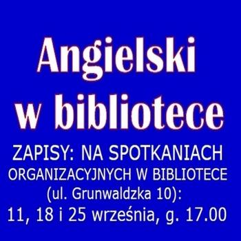 ANGIELSKI WBIBLIOTECE – ZAPISY