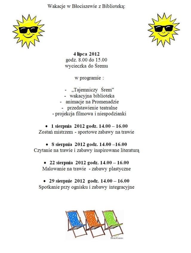 Filia Błociszewo Archiwum Filie Biblioteki Biblioteka