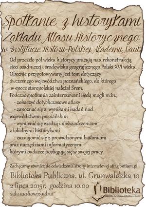 Spotkanie zhistorykami Zakładu Atlasu Historycznego wInstytucie Historii PAN